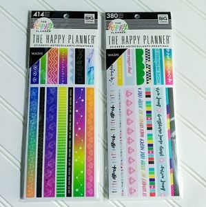 The Happy Planner stickers/washi-tapes LIMITED